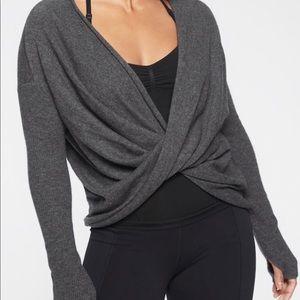 Athleta cashmere wrap sweater